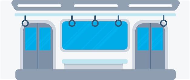 Subway interior background vector illustration