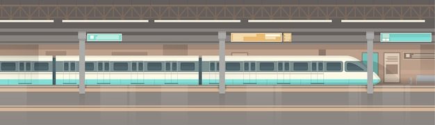 Subway tram modern city public transport