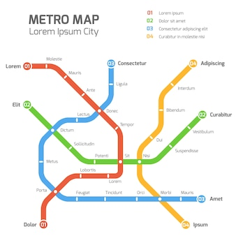 Subway vector map template