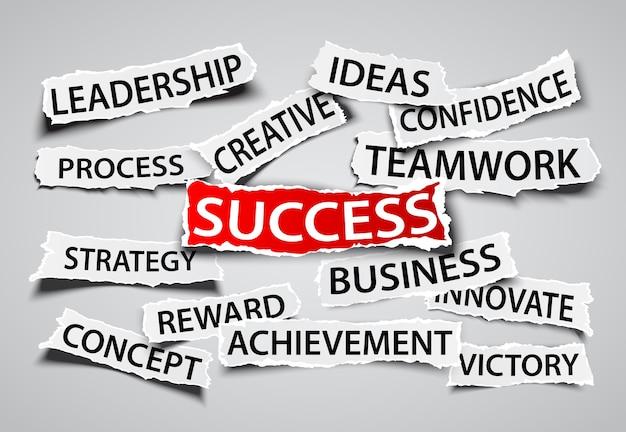 Success on business concept