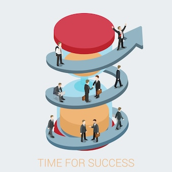 Success in business illustration