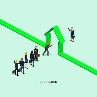 Success in business job infographic