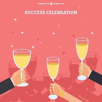 Success celebration Free Vector