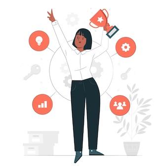 Illustrazione di concetto di fattori di successo