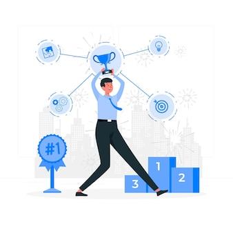 Success factors concept illustration