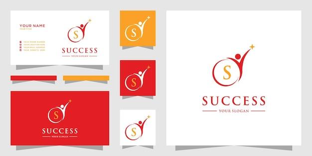成功リーダーシップ教育ロゴデザインのインスピレーション