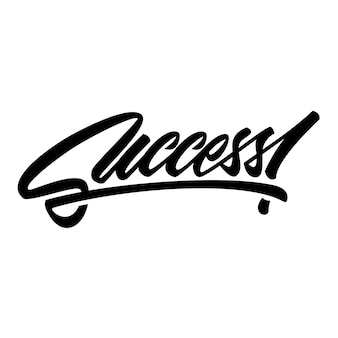 Success lettering text