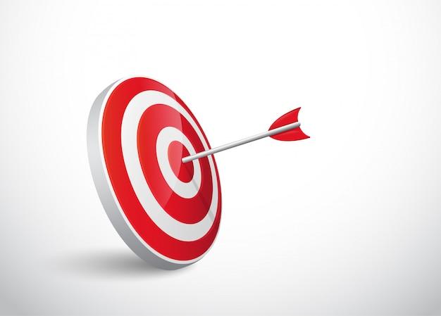 Успех стрелы кланяется цели.