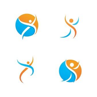 成功者は健康的なロゴとシンボルのテンプレートを気にします