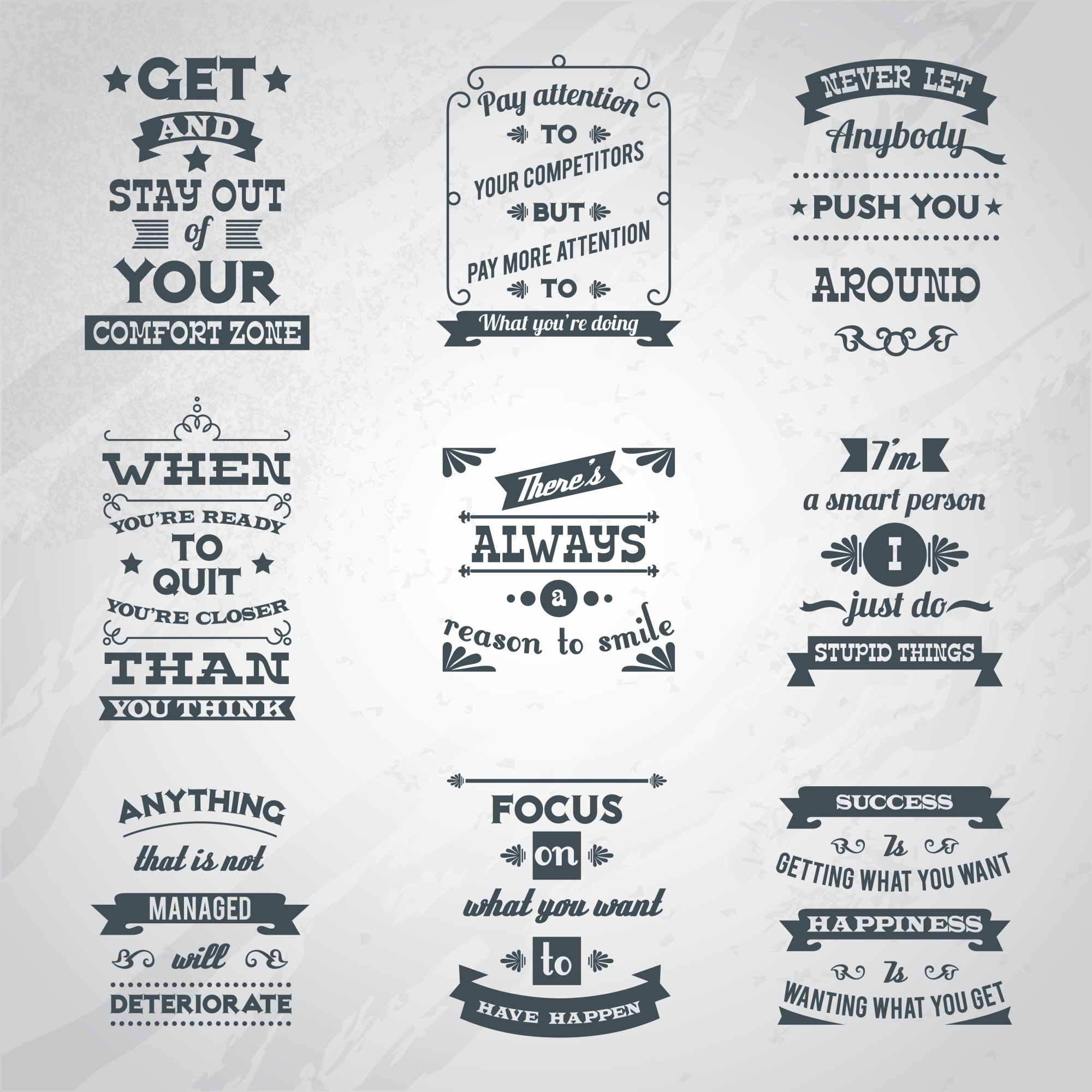 Success quotes set