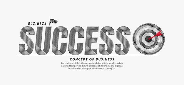 成功落書きテキストデザイン背景ビジネスターゲットレタリングタイポグラフィの概念