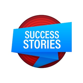 Success stories banner vector banner announcement label with success stories message