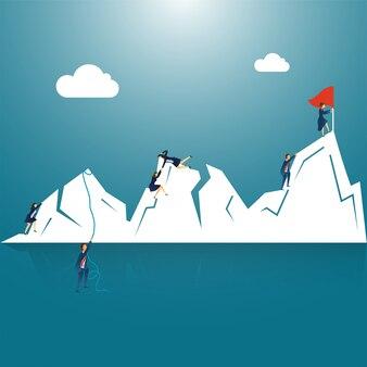 Success or target achievement concept.