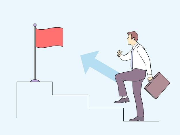 成功勝利のお祝いの目標達成ビジネスコンセプト