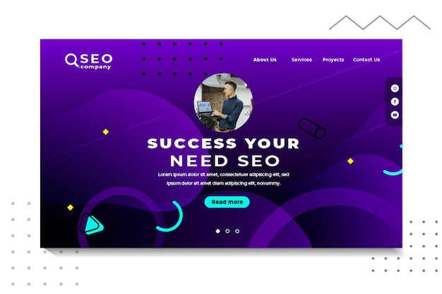 Success your need seo landing page template