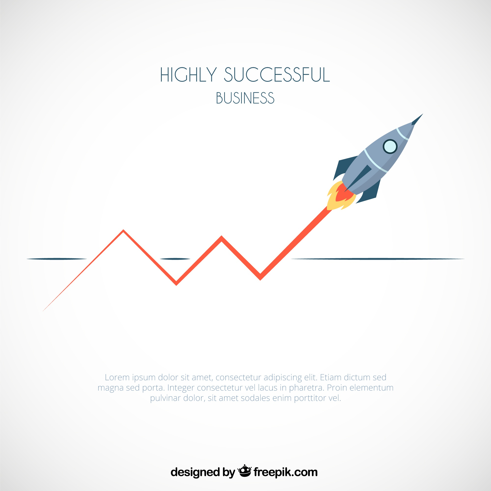 Successful business infographic