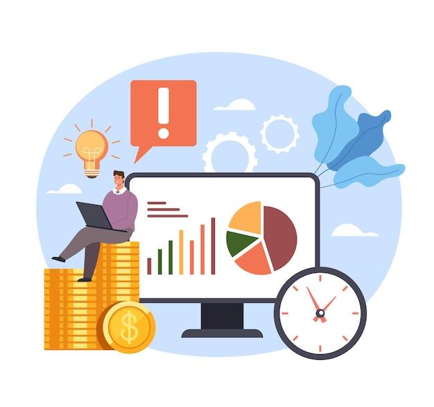 성공적인 비즈니스 기회 서비스 솔루션 전략 수입 돈.