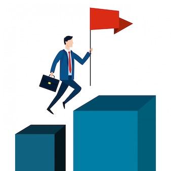 Successful businessman avatar cartoon