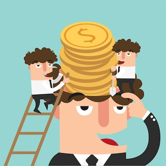 Successful businessman concept illustration