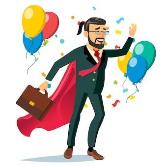 Successful businessman hero