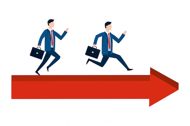 Successful businessmen avatar cartoon