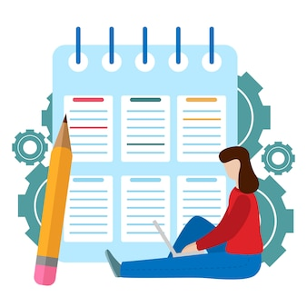 Successful completion of business tasks. checklist clipboard. questionnaire