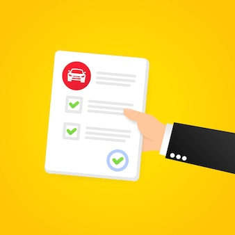 Successful driving exam paper banner. driving school examination. vector on isolated background. eps 10.