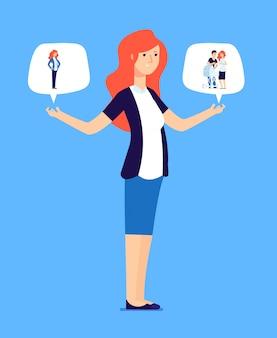 成功した女性は責任ある選択をさせます。