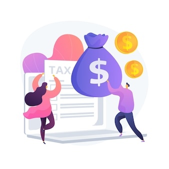 Successful financial operation. business accounting, invoice report. happy people with tax receipt. duty paying, money savings, cash income. vector isolated concept metaphor illustration