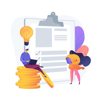 Successful financial operation. cash currency, money income, credit approval. savings insurance, finance contract. creative budget management. vector isolated concept metaphor illustration