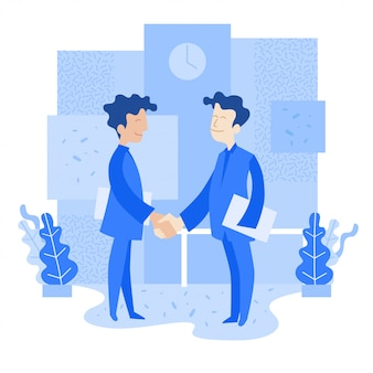 Successful people shake hands