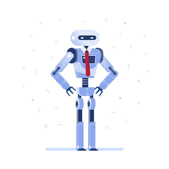 Successful robot businessman with a tie.