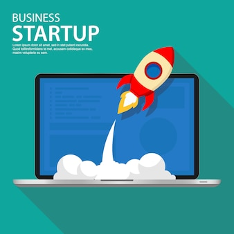 Successful startup business illustration