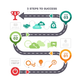 Successful steps infographic. business graphs pyramid levels achievement mission infographic elements
