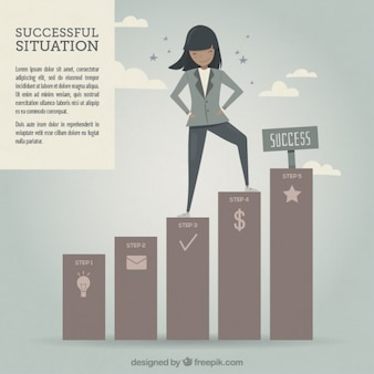 Successful woman illustration