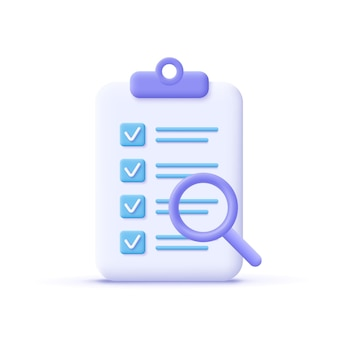 Successfully complete business assignments icon 3d vector illustration