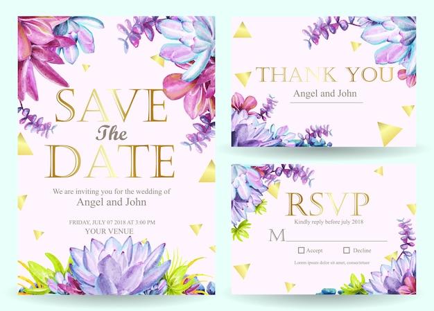 多彩な結婚式招待状