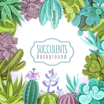 Succulents Background Illustration