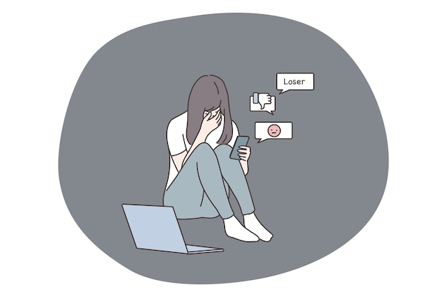 Suffering from bullying in social media network and bad news