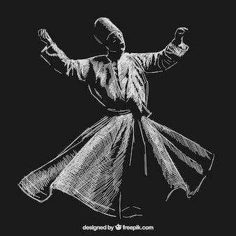 Суфи кружение танца Бесплатные векторы