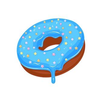 Пончик в сахарной глазури со звездочками