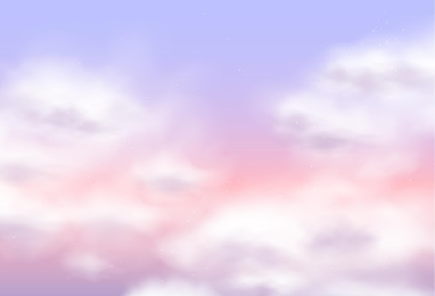 Sugar cotton pink clouds vector design background. magic fairytale backdrop. fluffy sky texture. elegant pastel decoration backdrop, trendy wallpaper