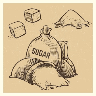 Sugar doodles collection. sketch sugar illustration