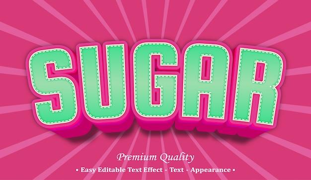 설탕 글꼴 스타일 효과