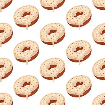 Пончик глазированный сахарной глазурью со звездочками