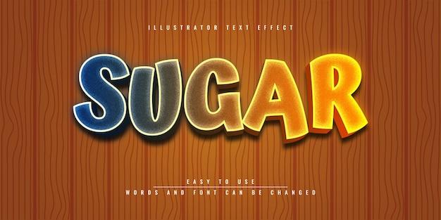 Дизайн шаблона редактируемого 3d текстового эффекта в sugar illustrator