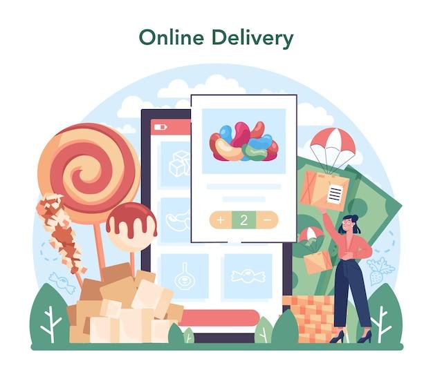 설탕 생산 산업 온라인 서비스 또는 플랫폼. 자당