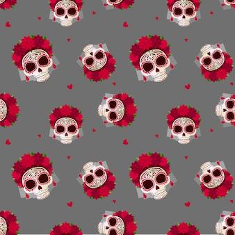 설탕 두개골 패턴