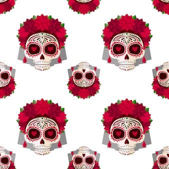 Sugar skull pattern.