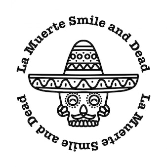 Sugar skull smile
